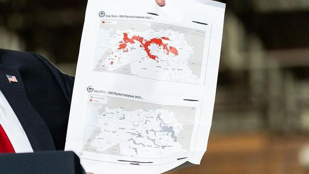 Donald Trump dan peta wilayah ISIS