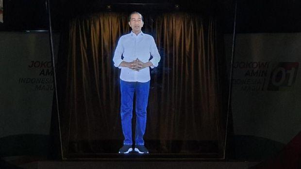 Peluncuran kampanye hologram Jokowi-Ma'ruf.