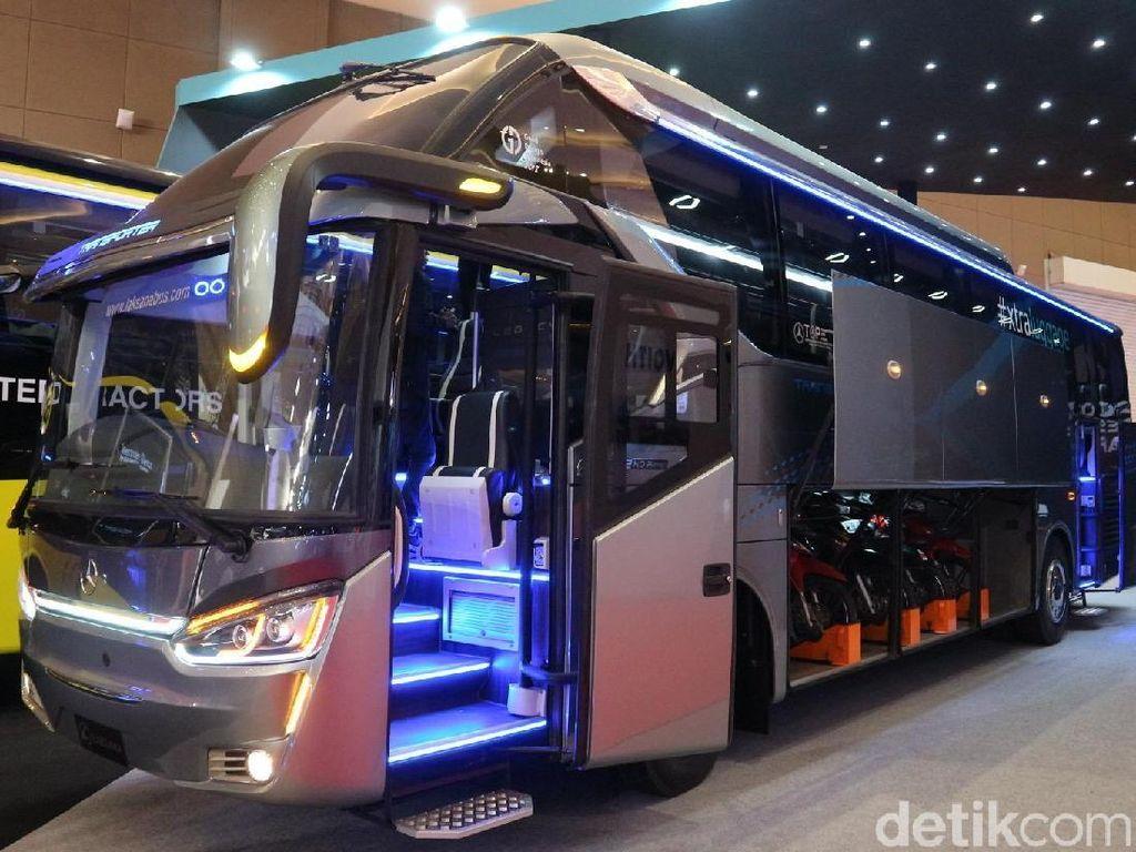 Bus Anyar Karoseri Laksana Ini juga Muat 6 Motor
