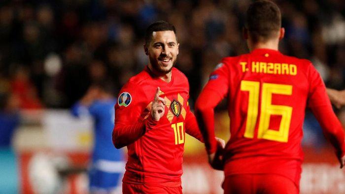 Eden Hazard menolak Bayern Munich alasannya ialah tak mau membayang-bayangi adiknya, Thorgan Hazard, di Jerman (Foto: Yiannis Kourtoglou/Reuters)