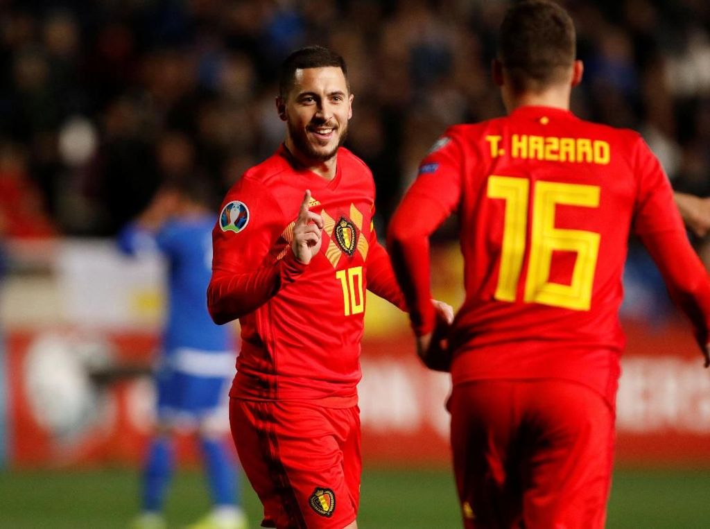 Manisnya Laga ke-100 Hazard di Timnas Belgia