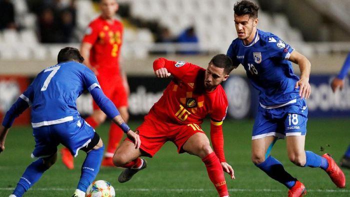 Belgia menang 2-0 atas Siprus dalam lanjutan Kualifikasi Piala Eropa 2020 (Foto: Yiannis Kourtoglou/Reuters)
