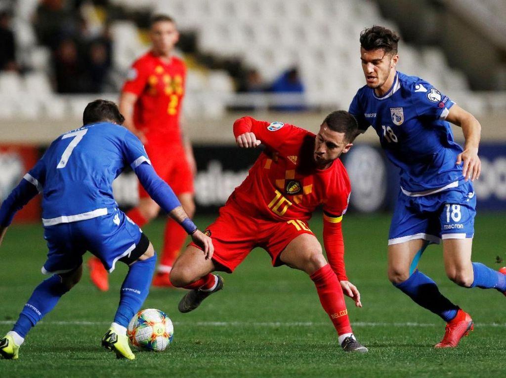 Kualifikasi Piala Eropa: Belgia Atasi Siprus 2-0