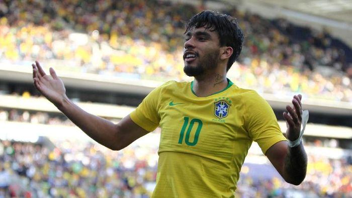 Pemain Timnas Brasil, Lucas Paqueta. (Foto: Pedro Nunes/Reuters)