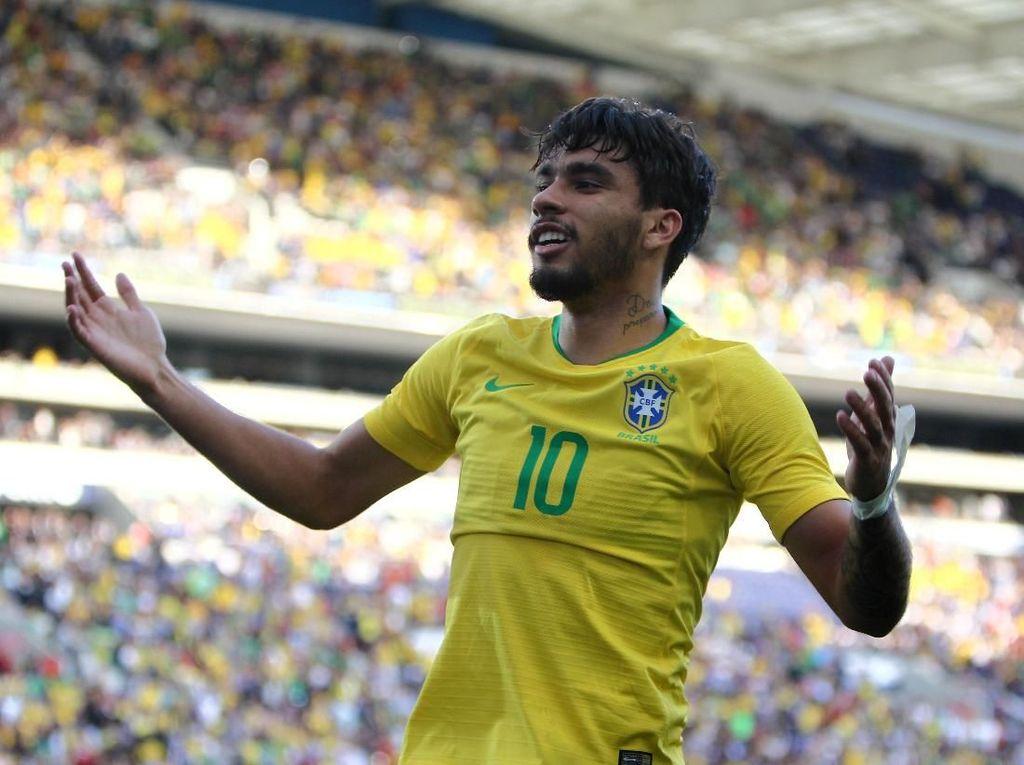 Kilau Paqueta dengan Jersey Nomor 10 Timnas Brasil
