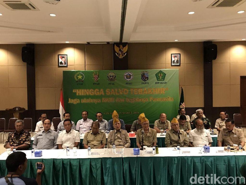 Veteran dan Purnawirawan TNI Minta Warga Jaga Persatuan di Pemilu 2019