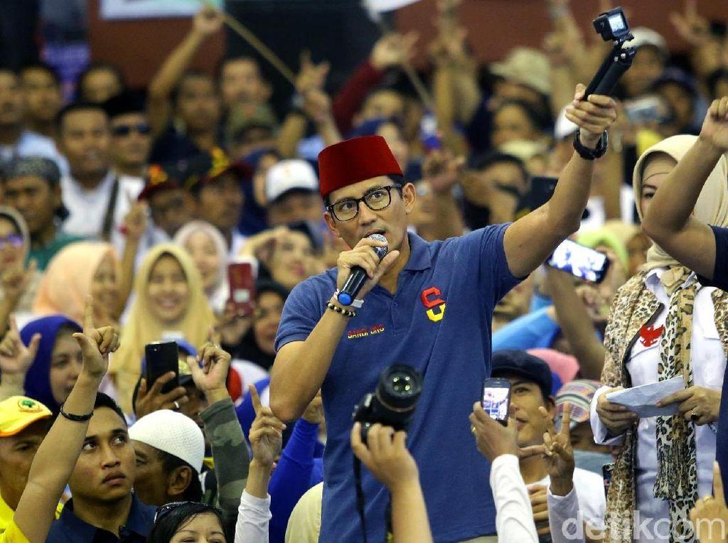 Sandiaga Klaim Rasakan Aura Kemenangan Seperti di Pilgub DKI 2017