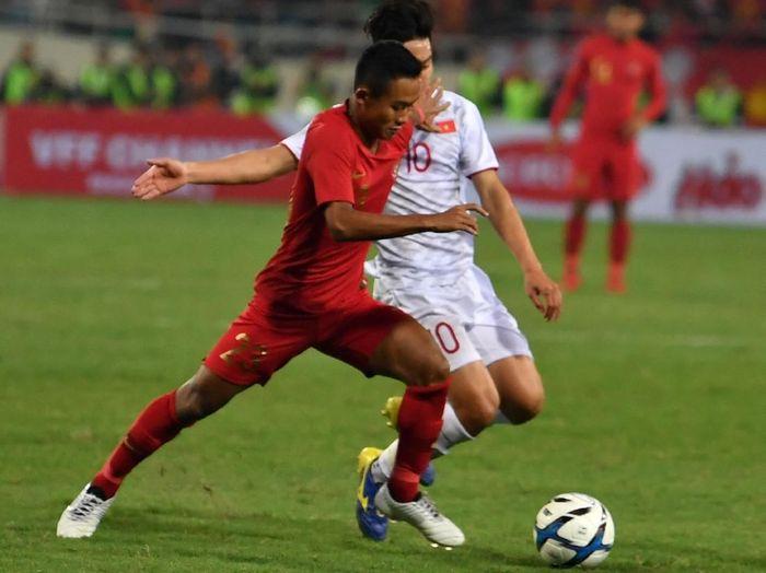 Pemain TImnas Indonesia U-23 di kualifikasi Piala Asia 2020. (Foto: R. Rekotomo/Antara Foto)