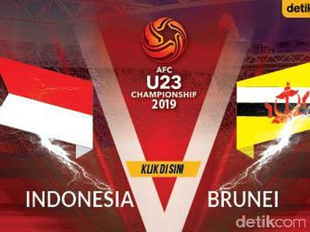 Babak I Indonesia Vs Brunei: Garuda Muda Unggul 1-0