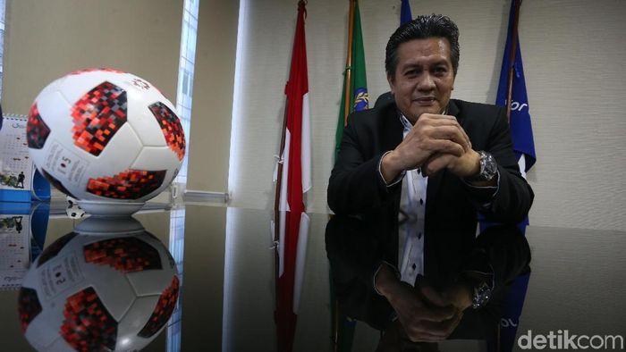 Gusti Randa tak mau mencalonkan diri sebagai ketua umum PSSI. (Rengga Sancaya/detikSport)
