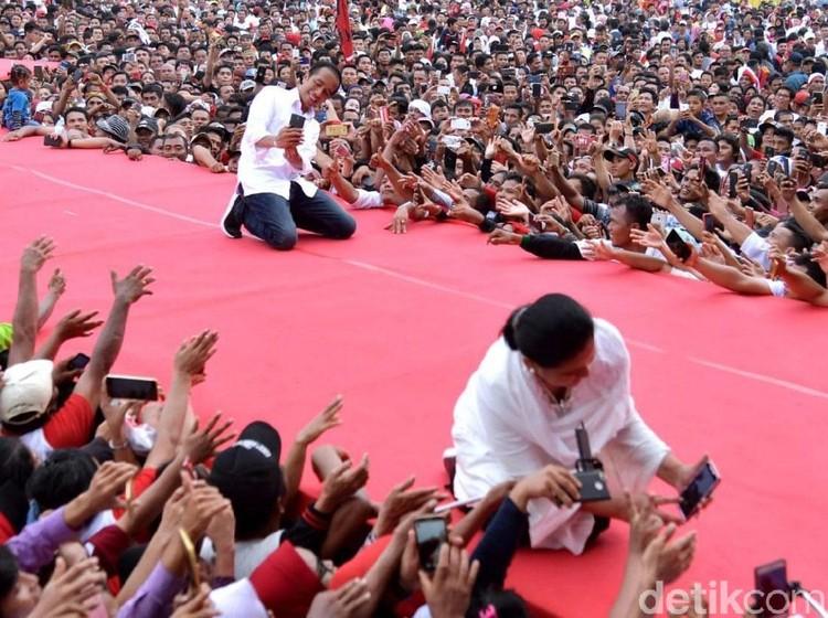TKN Ceritakan Momen Iriana Sempat Jatuh di Panggung Kampanye Jokowi
