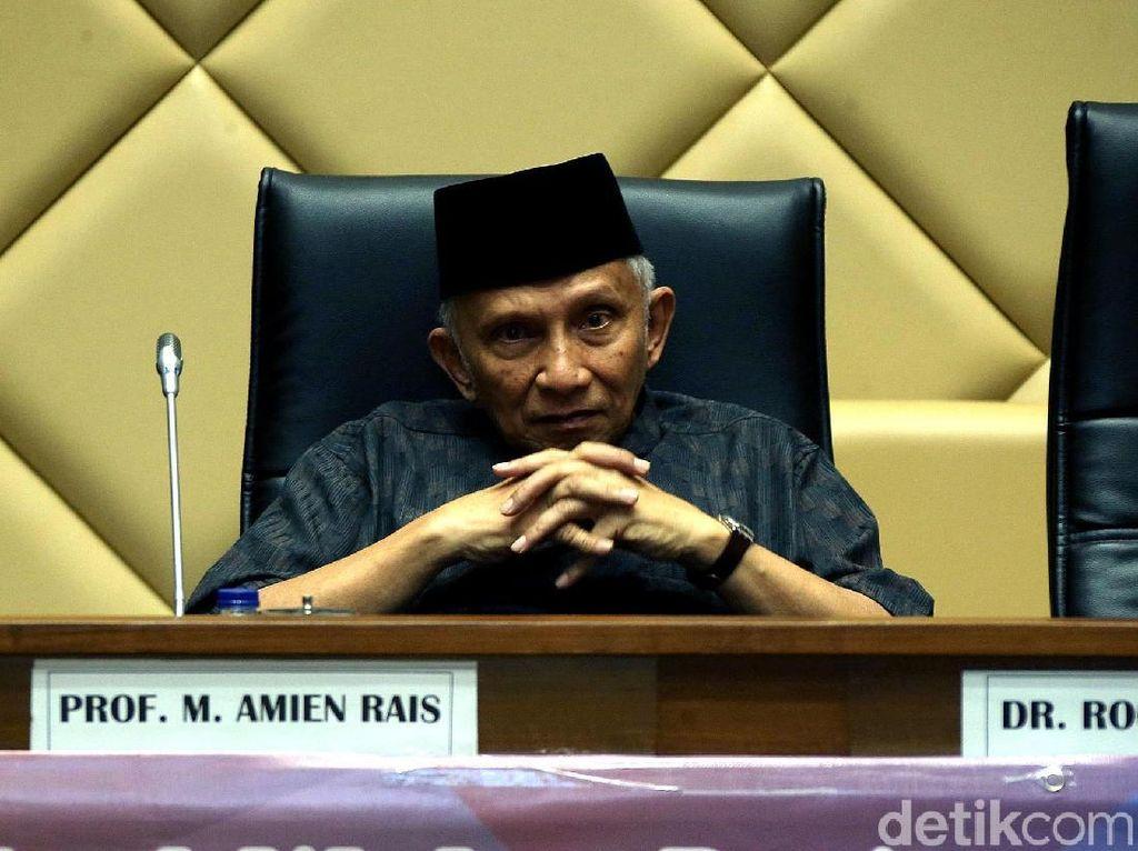 Bahas DPT Pemilu 2019, Begini Ekspresi Serius Amien Rais