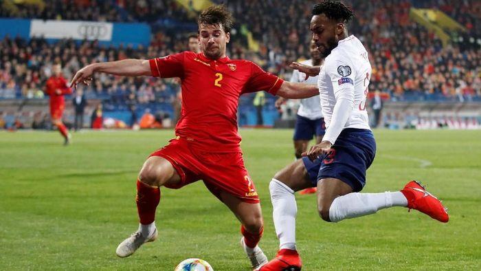 Pertandingan Montenegro vs Inggris digelar di Stadion Pod Goricom, Selasa (26/3/2019) dini hari WIB. Ini merupakan pertandingan kedua bagi kedua tim di Grup A Kualifikasi Piala Eropa 2020. Foto: Carl Recine/Action Images via Reuters