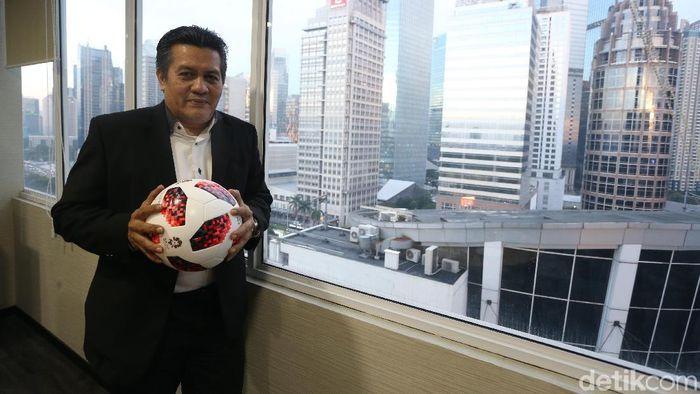 Gusti Randa mengemban amanah dari Joko Driyono untuk memimpin sementara PSSI. (Foto: Rengga Sancaya/detikcom)