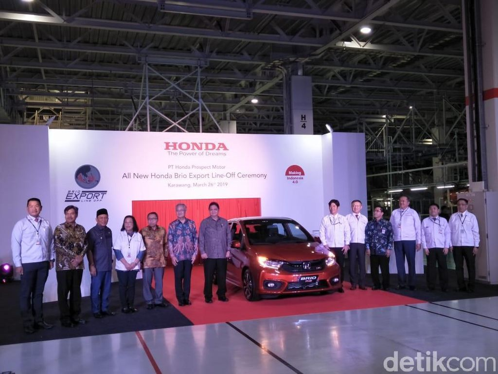 Ribuan Honda Brio Buatan Karawang Siap Diekspor Pekan Depan