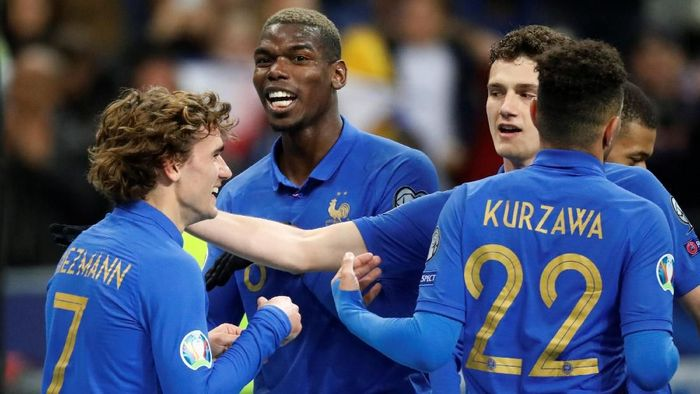 Timnas Prancis dan Inggris menang besar di Kualifikasi Piala Eropa 2020 (REUTERS/Charles Platiau)