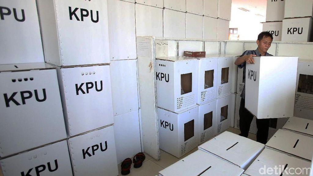 Logistik Pemilu di Menteng Siap Didistribusikan