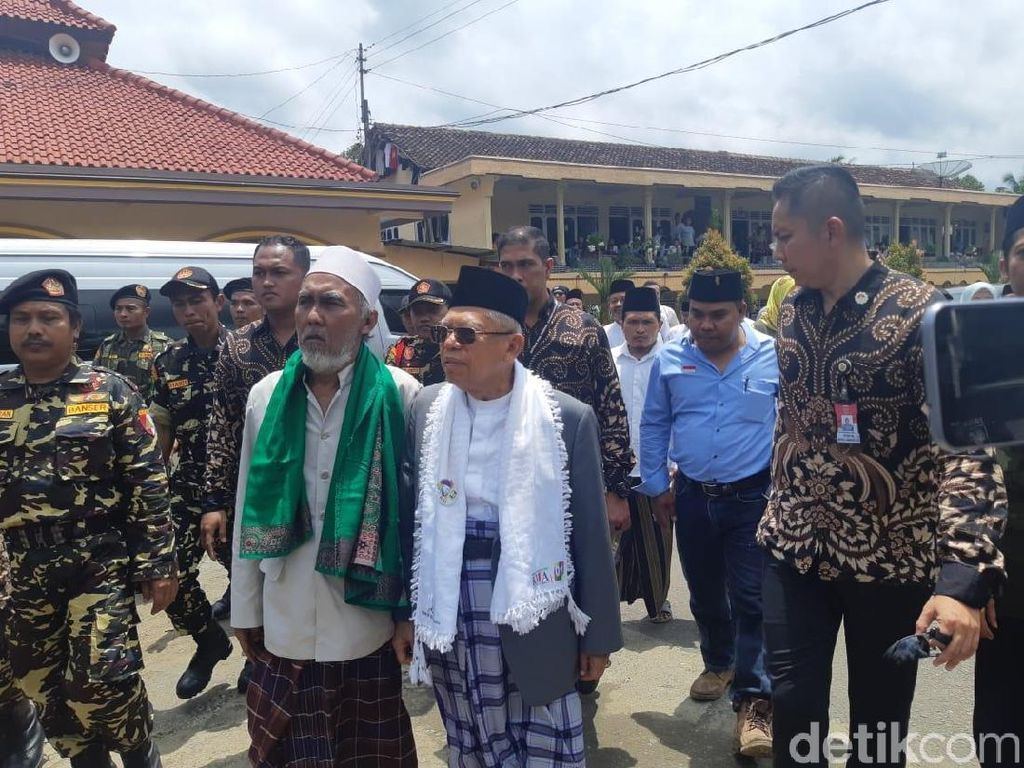 Maruf Amin Silaturahmi ke Pondok Pesantren Al-Iman Purworejo