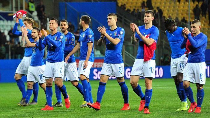 Usai menang 2-0 atas Finlandia, Italia melumat Liechtenstein 6-0 (Foto: Jennifer Lorenzini/Reuters)