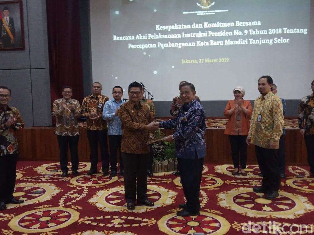 Dipimpin Darmin, 11 Kementerian Keroyokan Bangun Tanjung Selor
