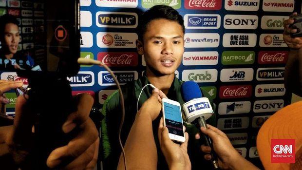 Dimas Drajad menjadi salah satu mencetak gol Timnas Indonesia U-23.