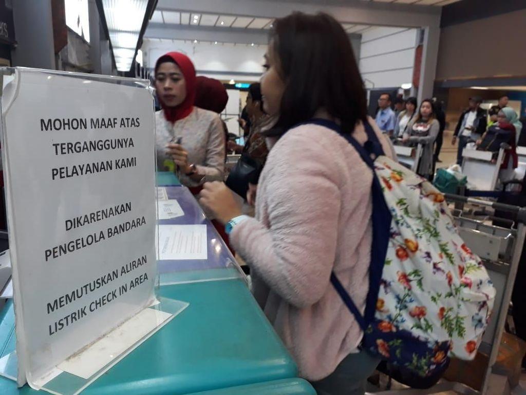 Listrik Layanan Check-in Diputus, Ini Penjelasan Sriwijaya Air