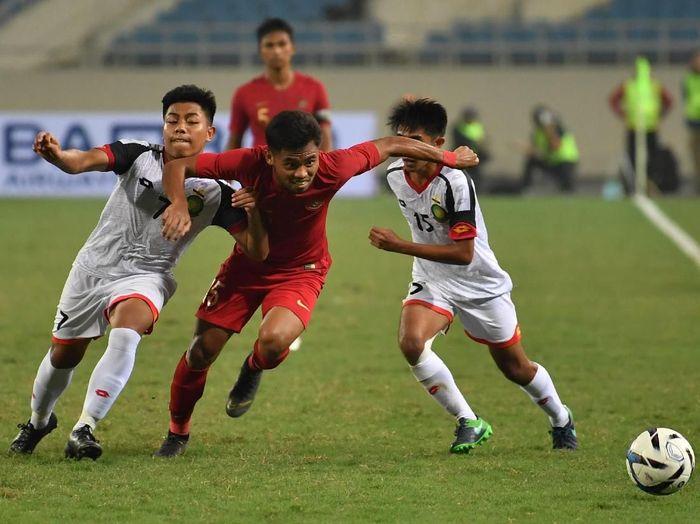 Indonesia di kualifikasi Piala Asia U-23 2020. (Foto: R. Rekotomo/ANTARA FOTO)