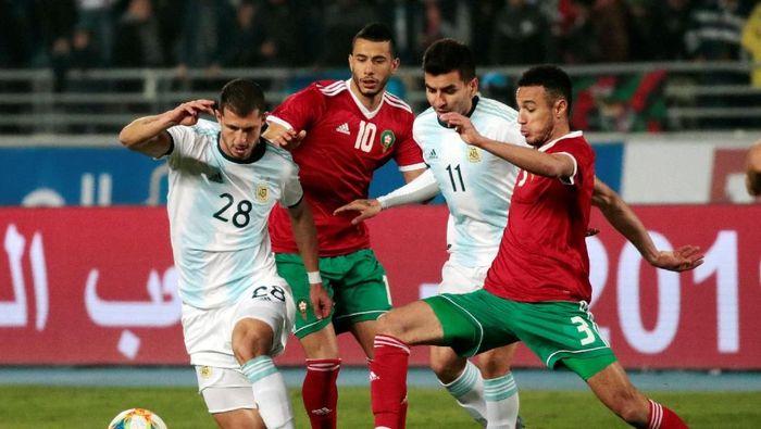 Maroko vs Argentina berakhir 0-1. (Foto: Youssef Boudlal/REUTERS)