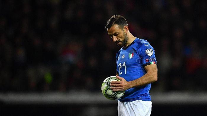 Fabio Guagliarella jadi pemain tertua yang mencetak gol untuk Timnas Italia (Valerio Pennicino/Getty Images)