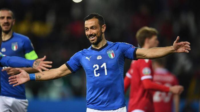 Pemain Timnas Italia, Fabio Quagliarella. (Foto: Claudio Villa/Getty Images)