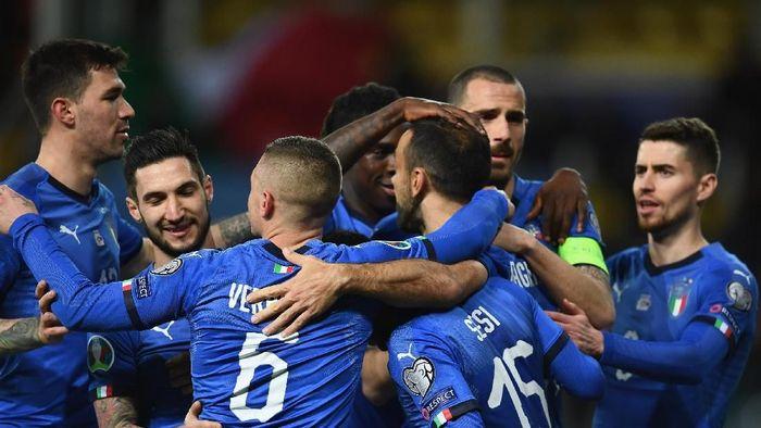 Laga Kualifikasi Piala Eropa 2020 antara Italia vs Liechtenstein berakhir 6-0. (Foto: Claudio Villa/Getty Images)