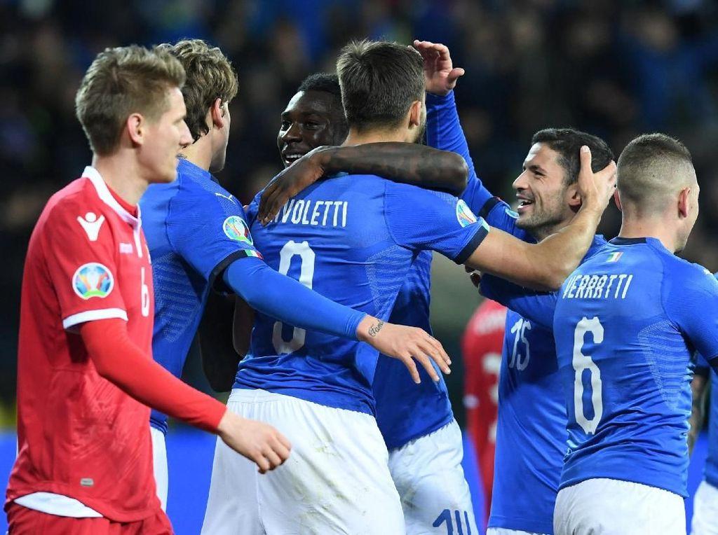 Galaknya Italia Lawan Liechtenstein: 41 Shot, 12 On Target, 6 Gol