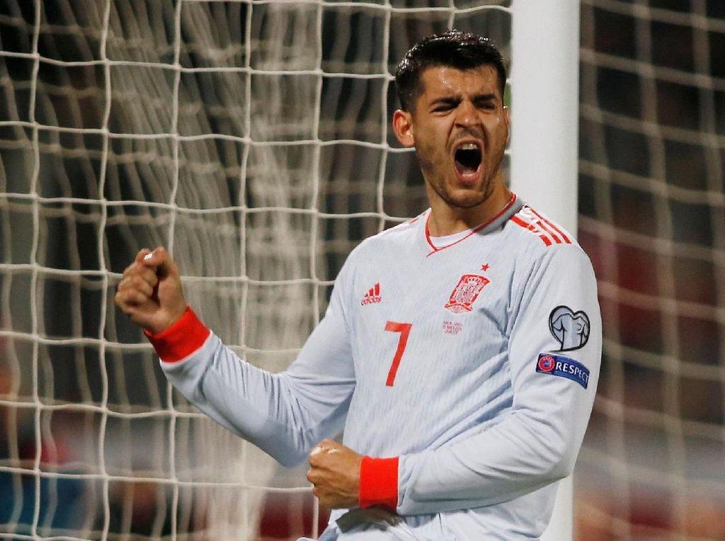 Dua Gol Spesial Morata untuk Luis Enrique