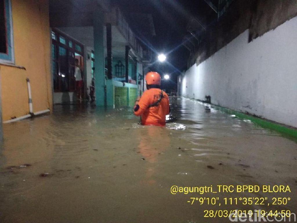 Total 387 Rumah di Cepu Blora Terendam Banjir Malam Ini