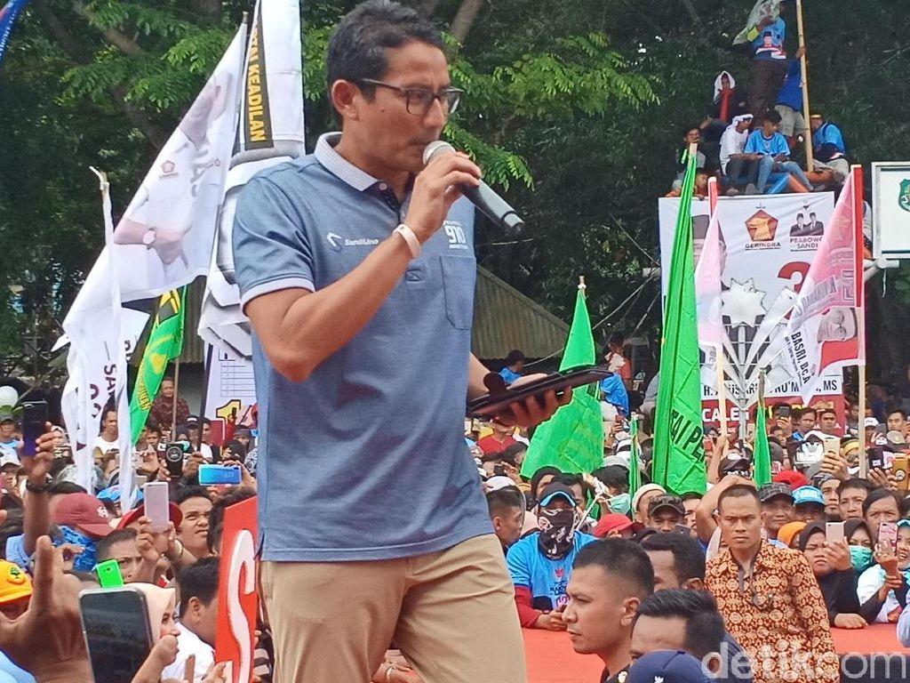 Di Sidrap, Sandiaga Singgung Bantuan Pupuk Dikorupsi Politisi-BUMN