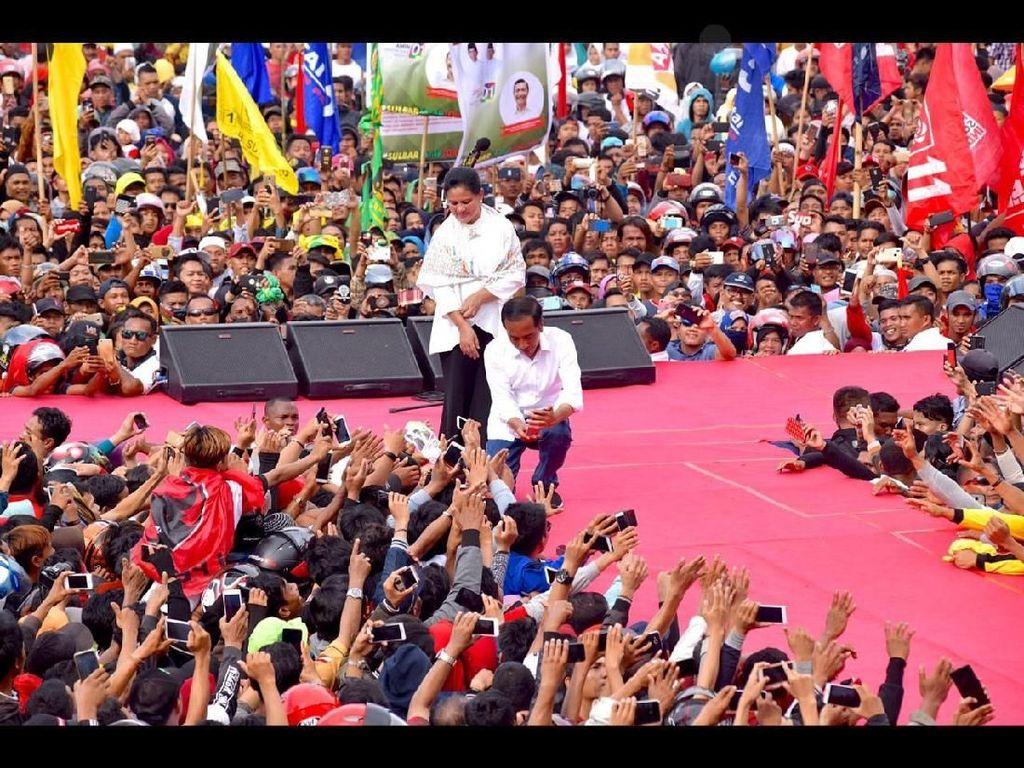 Kampanye di Sulbar, Jokowi Janji Rampungkan 3 Ruas Jalan di Mamuju