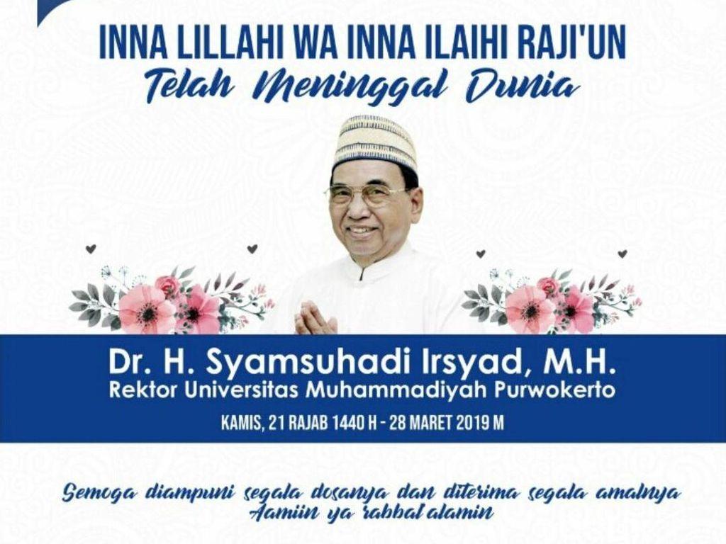 Rektor UMP Wafat, Haedar Nashir: Muhammadiyah Kehilangan Tokoh Senior
