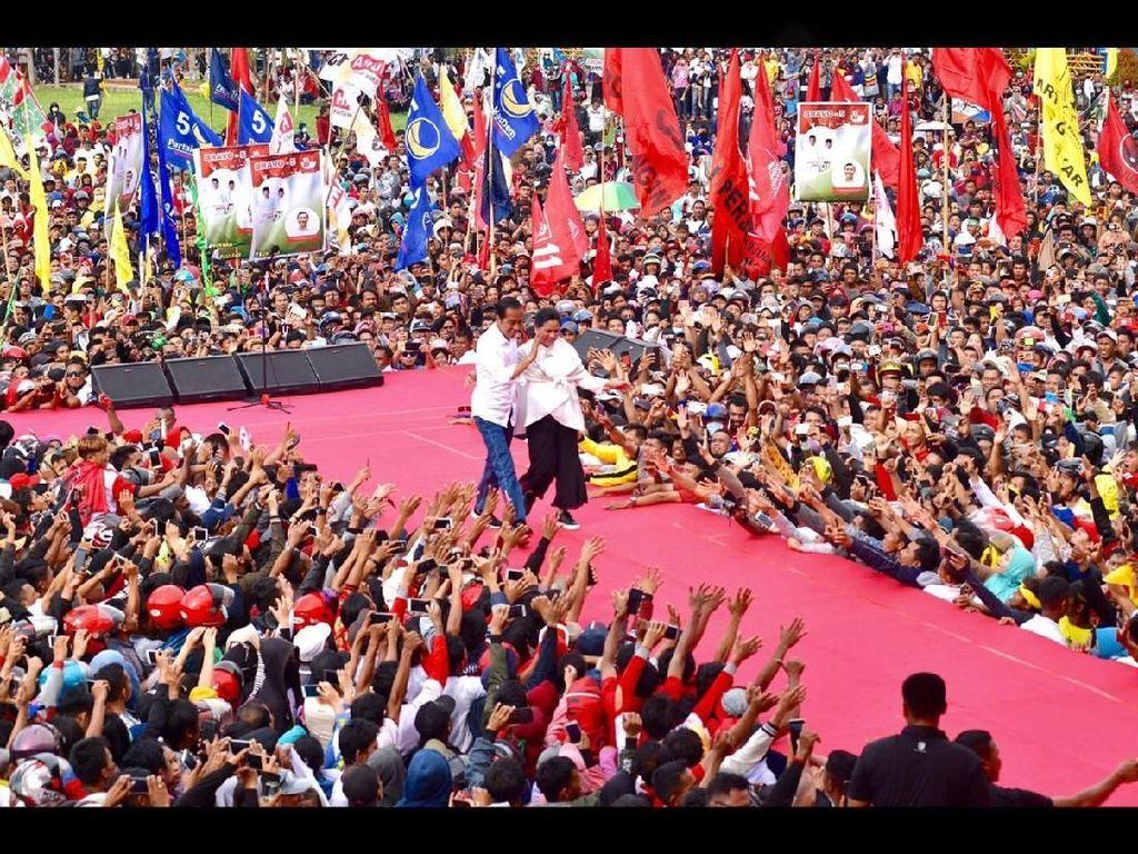 Jokowi Pesan Jaga Kerukunan ke Pendukung: Jangan Musuhan karena Pilpres