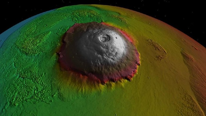 Olympus Mons. Foto: NASA