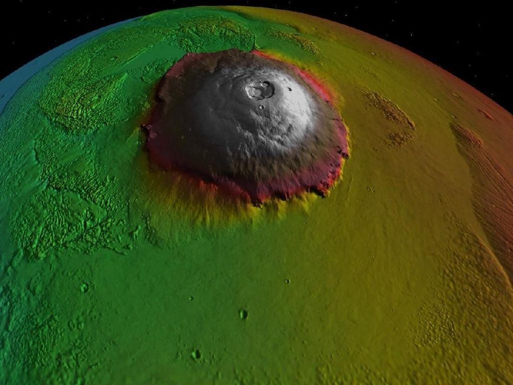 Mengenal Olympus Mons, Gunung Api Terbesar di Tata Surya