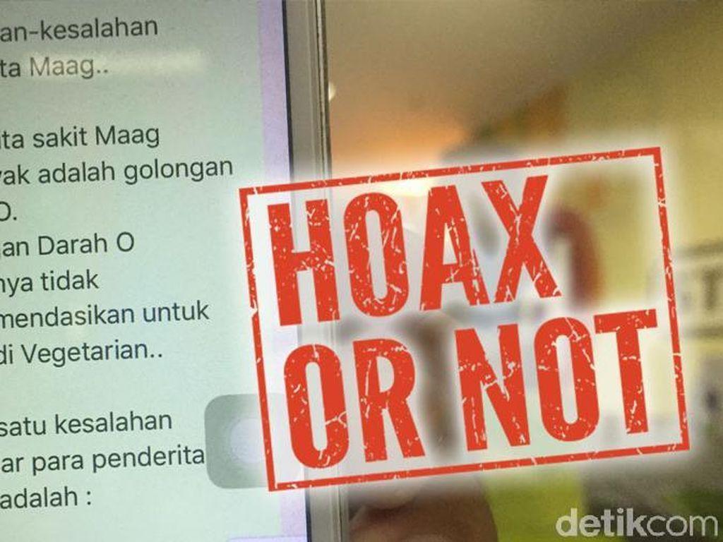 Hoax! Golongan Darah O Tidak Lebih Rentan Kena Sakit Mag