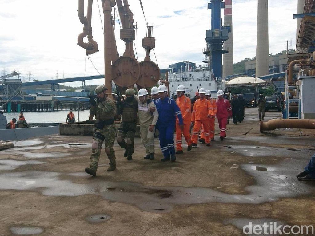 Koarmada I TNI AL Gelar Simulasi Bebaskan Sandera di PLTU Suralaya