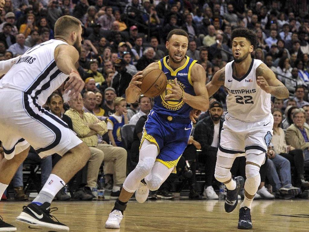Hasil NBA: Kalahkan Grizzlies, Warriors Pertahankan Puncak Wilayah Barat