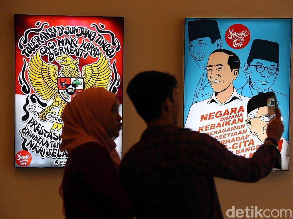 Kampanyekan Jokowi-Maruf Lewat Karya Seni