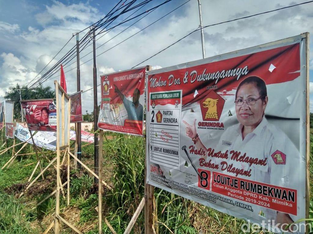 Sebagian Caleg Pro 02 Tak Pasang Foto Prabowo di Timika, karena Basis Jokowi?