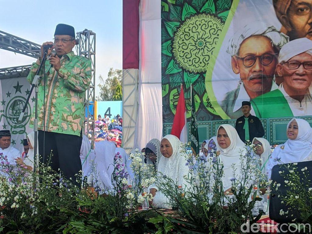 Hadiri Harlah di Lamongan, Said Aqil Doakan Tokoh NU Menang dalam Pemilu