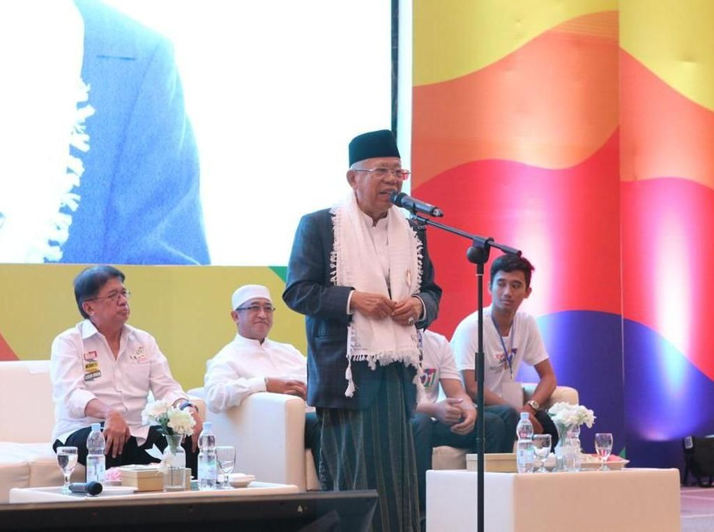 Kala Maruf Amin Yakin Lebih Dipilih Milenial