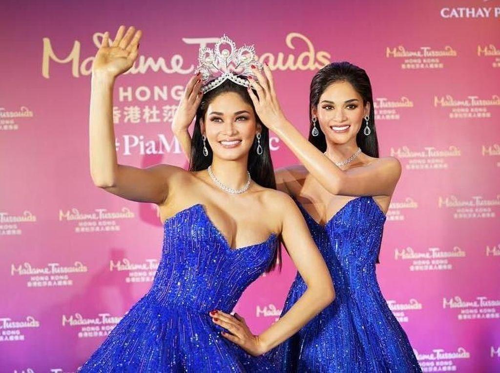 Miss Universe dan Patung Lilinnya Ini Mirip Banget, Tebak Mana yang Asli?
