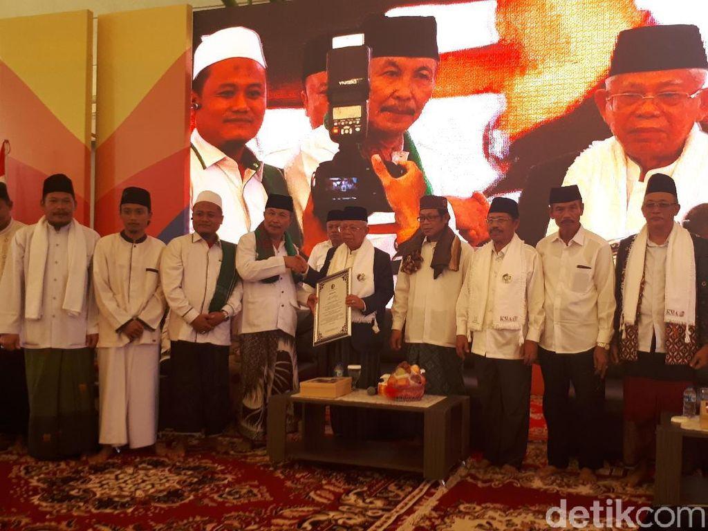 Jaringan Kiai Santri Sumsel Deklarasi Dukung Jokowi-Maruf Amin