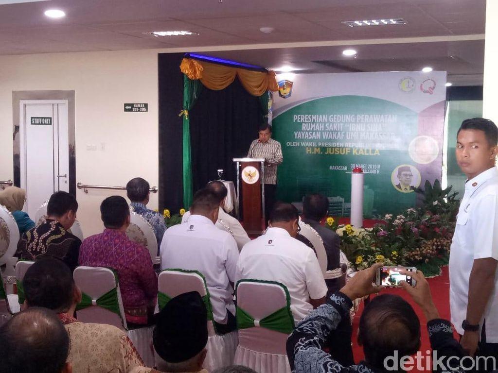 JK Harap Makassar Jadi Pusat Pelayanan Kesehatan di Indonesia Timur